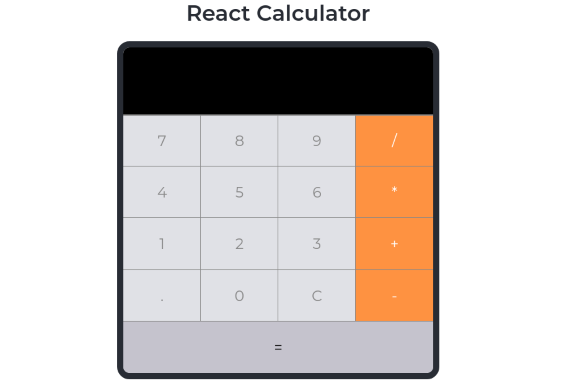 Simple Calculator demo